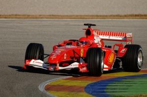 Valentino Rossi, durante su test con Ferrari en Cheste en 2006