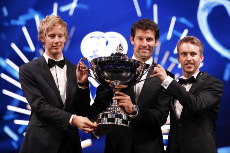 Webber, Tandy y campeones del Mundial de Resistencia 2015