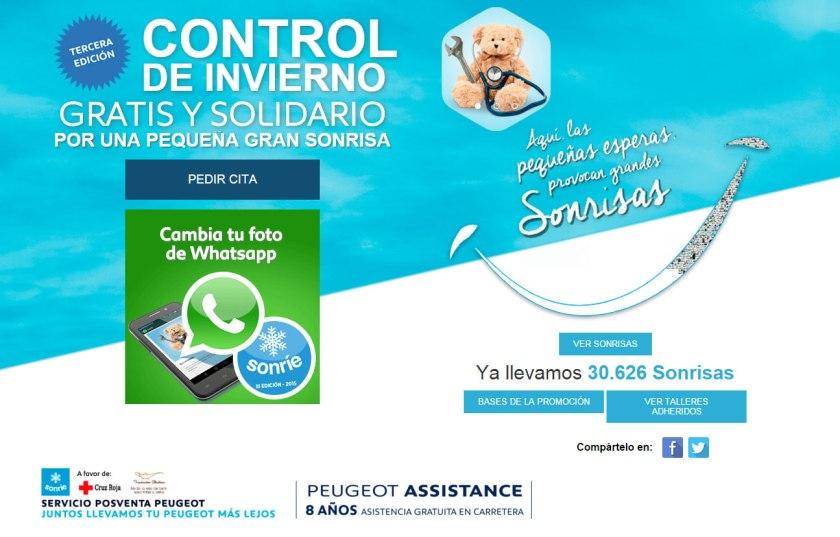 Arranca la III campaña de revisión gratuita solidaria de Peugeot