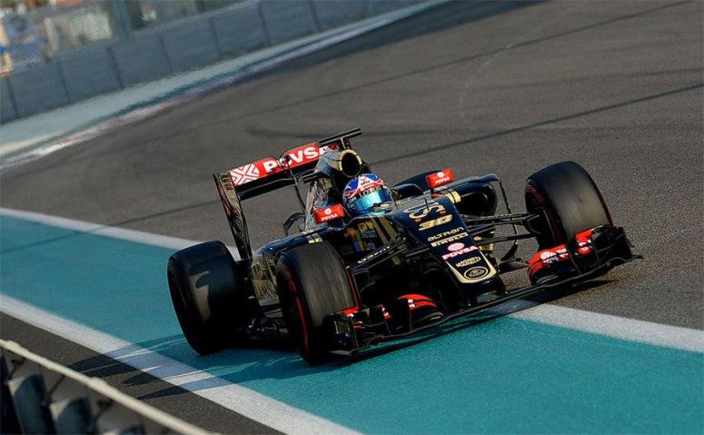 Excelente el trabajo de Jolyon Palmer y Lotus en los tests de Yas Marina