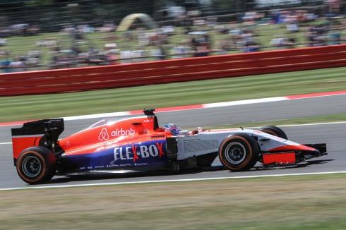 Will Stevens, durante el pasado GP de Gran Bretaña