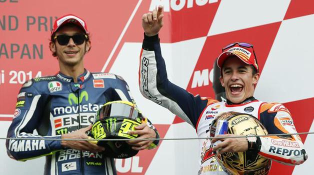 Márquez rompe con la empresa de merchandising de Rossi