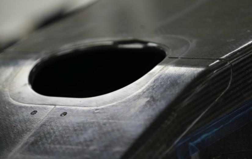 Detalle del morro del nuevo monoplaza de Renault para 2016