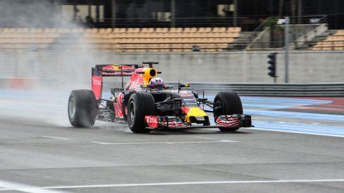 Daniel Ricciardo durante la primera jornada de test en Paul Ricard