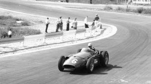 De Filippis, durante la disputa del GP de Bélgica de 1958