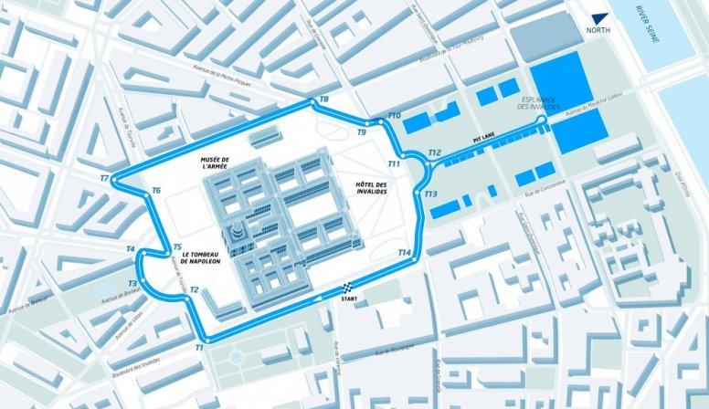 Trazado del circuito urbano de París para la Fórmula E