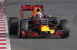 Daniel Ricciardo, tercero hoy con el nuevo Red Bull RB12