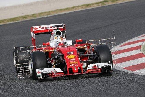 Sebastian Vettel, el más rápido en la primera jornada en Barcelona