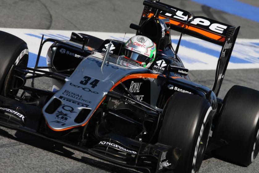 El joven Alfonso Celis (Force India), tercer mejor crono del día
