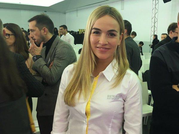 Carmen Jordá, durante el acto de presentación de Renault en París