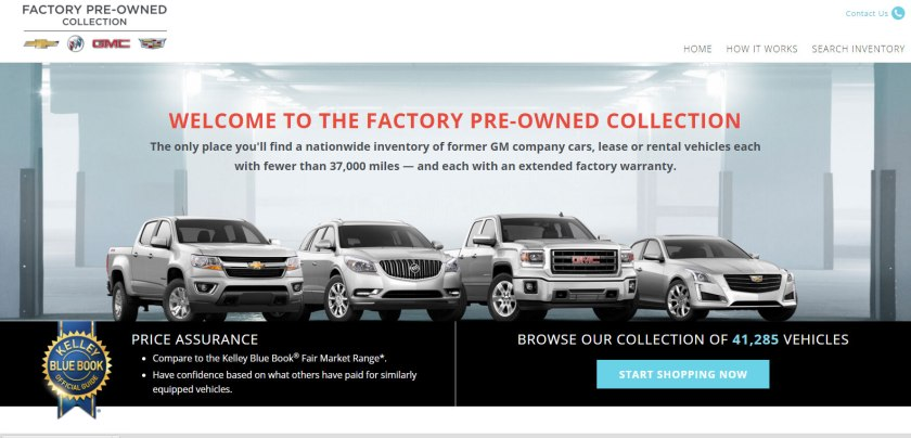 GM lanza una web para vender coches de ocasión en EE.UU.