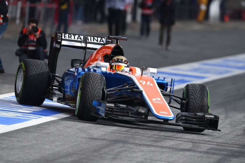 Pascal Wehrlein, en el momento de saltar a pista en Barcelona