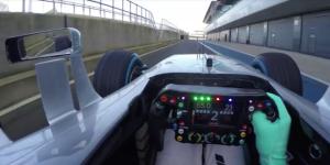 Nico Rosberg, a bordo del nuevo Mercedes W07 en Silverstone