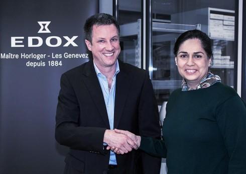 Sauber firma con la relojera suiza Edox como socio premium