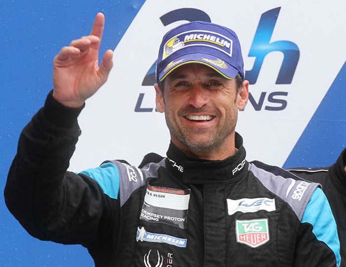 Patrick Dempsey, en el podium de las últimas 24 Horas de Le Mans