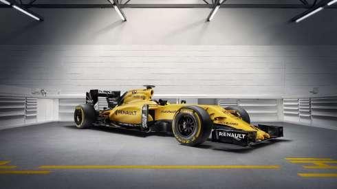 El Renault RS16 recupera los tradicionales colores amarillo y negro de la marca