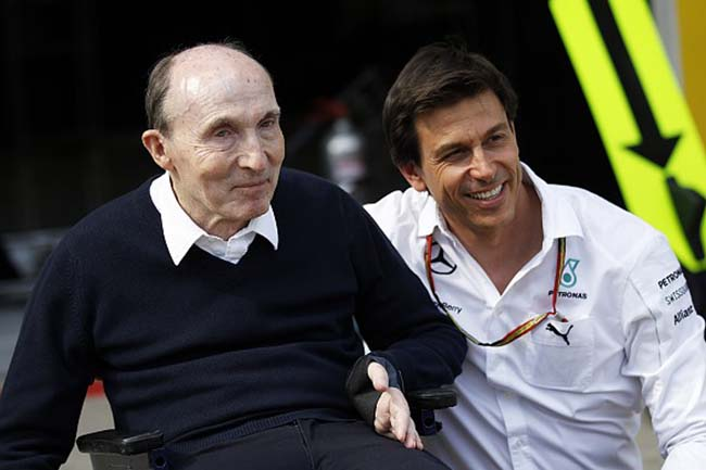 Toto Wolff y Sir Frank Williams