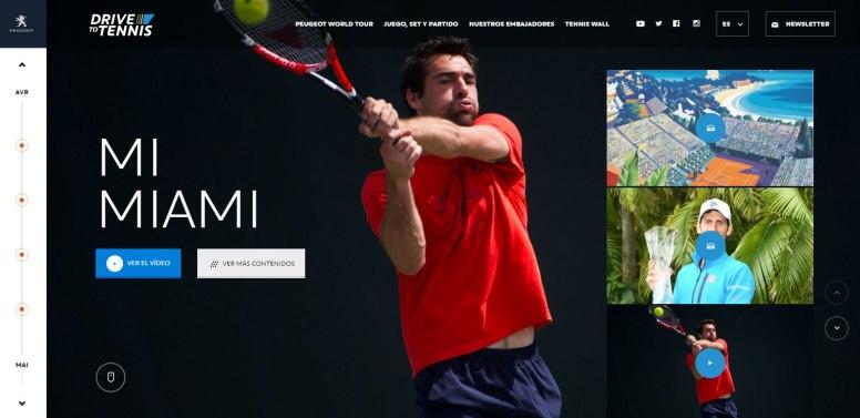Drive to Tennis, el portal de tenis de Peuegot