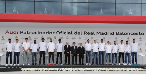El Real Madrid de basket recibe sus Audi para esta temporada