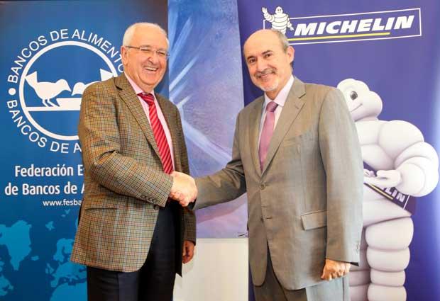 Michelin firma un acuerdo solidario con el Banco de Alimentos