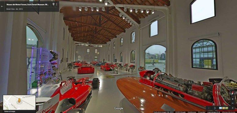 Google Street View acerca el Museo Ferrari a casa
