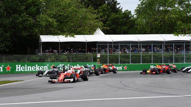 Sebastian Vettel sorprendió a todos con una excelente salida