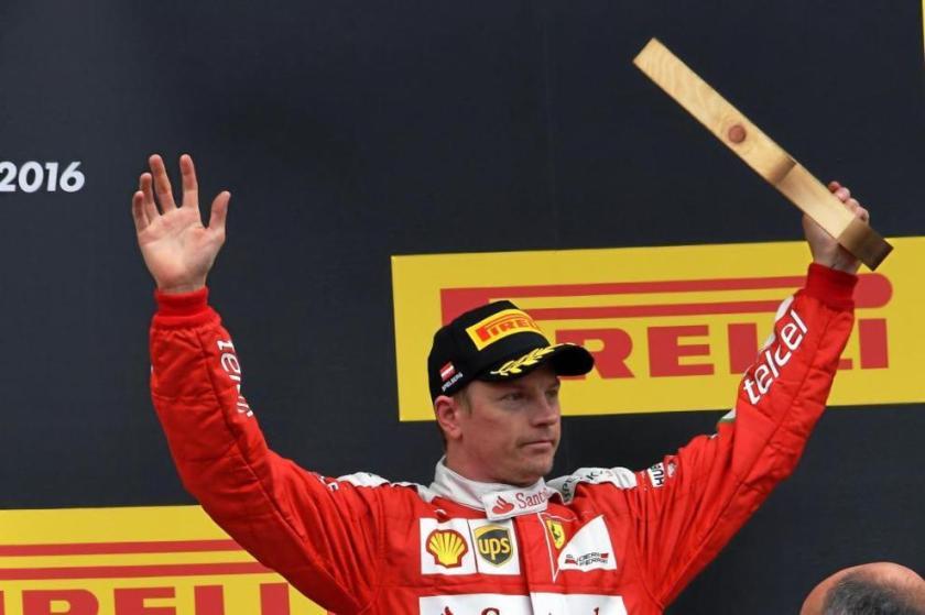 Kimi Raikkönen, en el podium de Austria