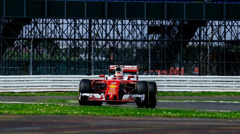 Kimi Raikkönen marcó el mejor tiempo de toda la sesión de pruebas en Silverstone