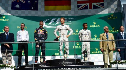 Nico Rosberg vuelve a lo más alto del cajón tras un accidentado GP de Bélgica