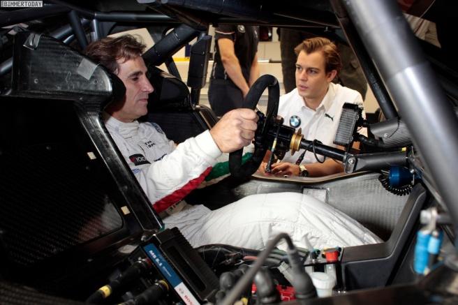Alex Zanardi volvió a correr con BMW