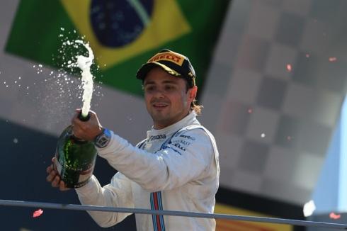 Felipe Massa en el pódium del último GP de Italia