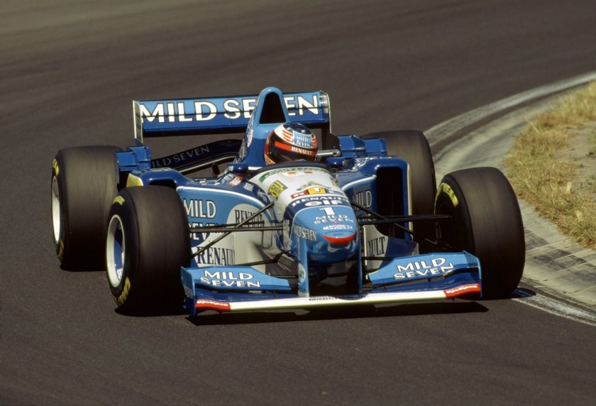 Michael Schumacher, a bordo del Benetton de 1995