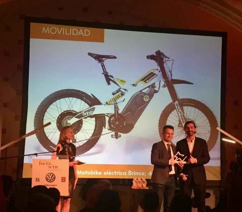 Bultaco, recogiendo el Premio Diseño e Innovación de Movilidad 2016