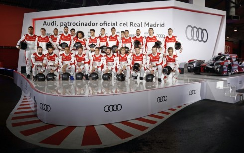 La primera plantilla del Real Madrid recogió sus Audi para la presente temporada