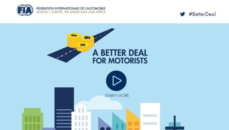 """A Better Deal for Motorists"" una iniciativa liderada por la FIA y el RACE"