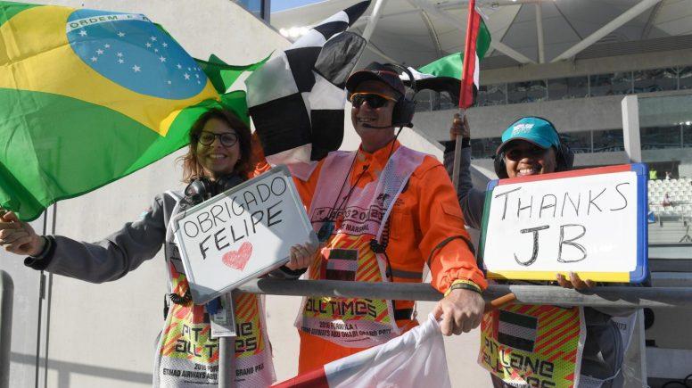 Todos quisieron despedir a Felipe Massa y Jenson Button en sus despedidas