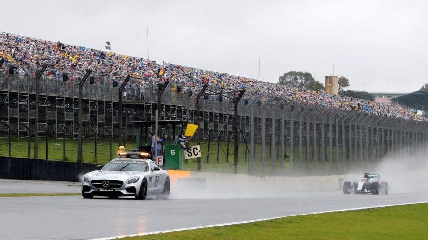 El Safety Car, protagonista junto a la lluvia del GP de Brasil