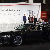 Sergio Ramos, a bordo de su Audi S8 Plus 4.0 TFSI