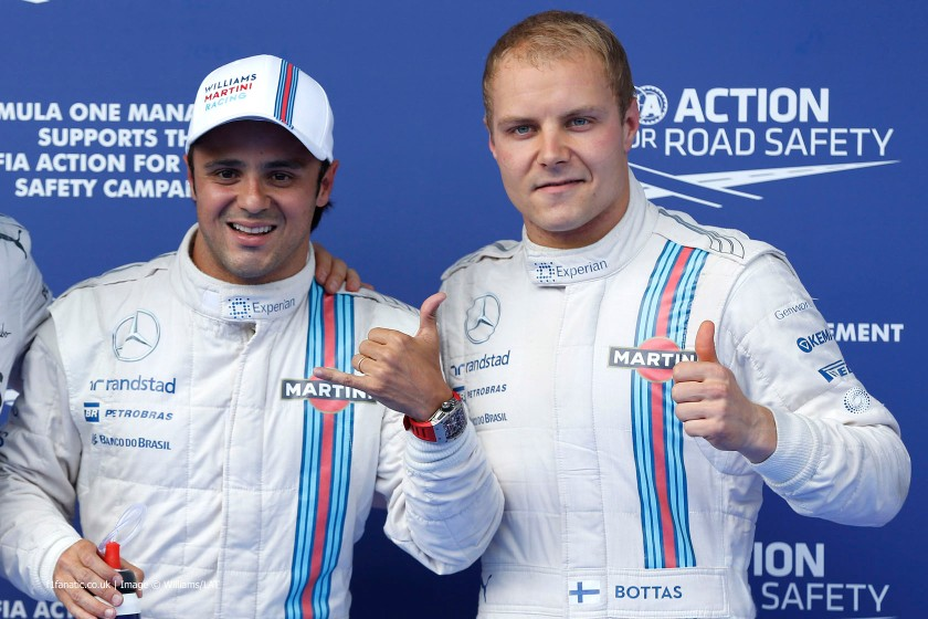 Felipe Massa podría volver a Williams si Bottas se marcha a Mercedes