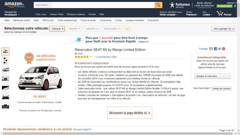 Seat triunfa con su iniciativa de venta a través de Amazon