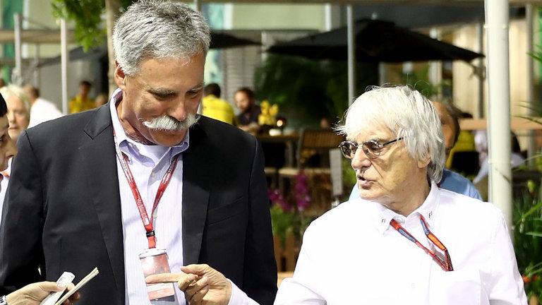 Bernie Ecclestone, fuera de la dirección de la Fórmula 1, junto a Chase Carey
