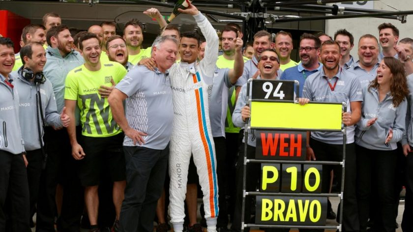Pascal Wehrlein, festejando su punto en el pasado GP de Austria