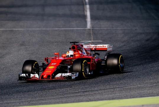 Sebastian Vettel, confirmando el buen momento actual de Ferrari
