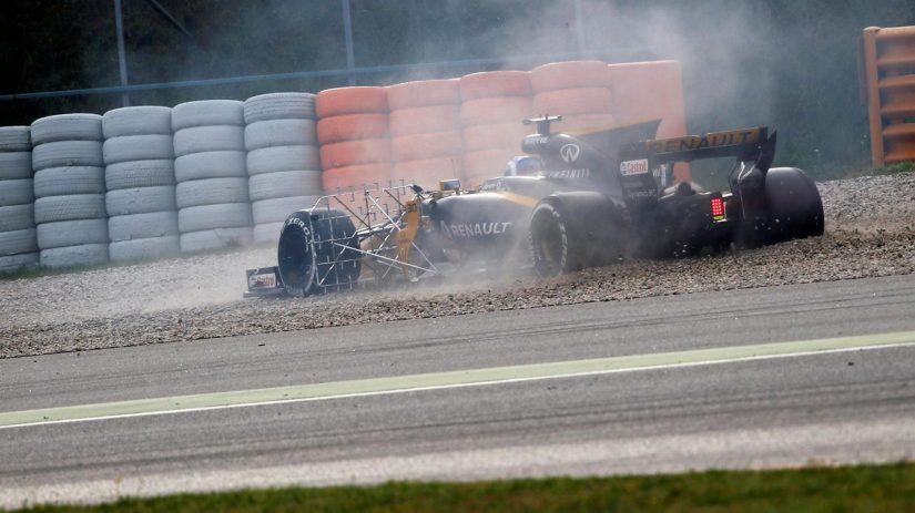 Imagen del trompo del trompo del Renault de Jolyon Palmer