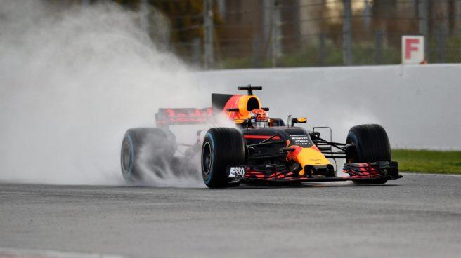 Buen día para Max Verstappen, tercero hoy en Montmeló