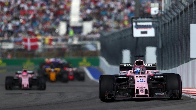 Excelente el papel de Force India y sus dos pilotos en Rusia