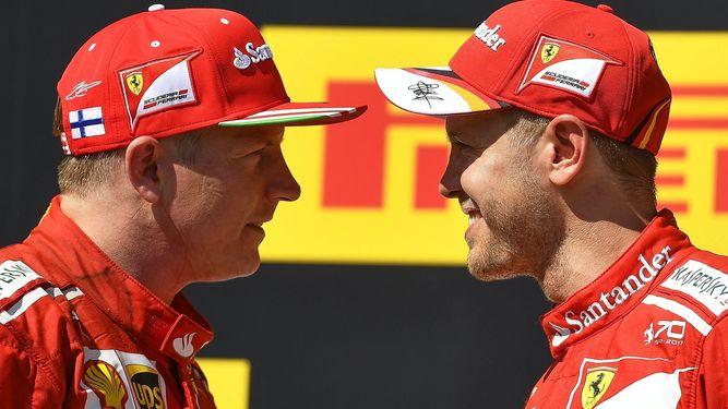 Sebastian Vettel y Kimi Raikkönen seguirán juntos en Ferrari en 2018