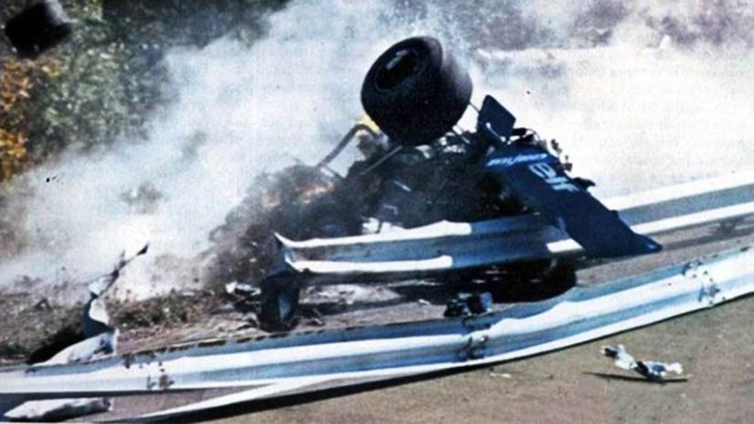El Tyrrell de François Cervert en Watkins Glen, en el accidente que le costó la vida