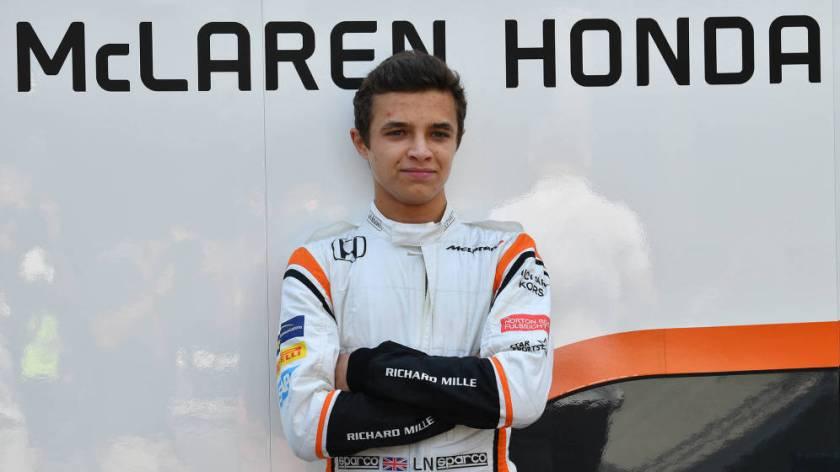 Lando Norris, nuevo piloto reserva de McLaren para 2018
